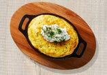 リコッタチーズのスフレオムレツ