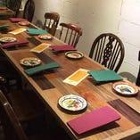 友人との食事や宴会、人数に合わせてお席をお作りいたします