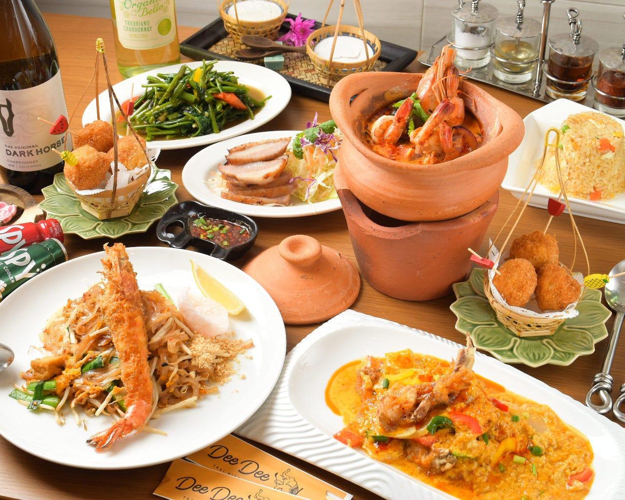 本格タイ料理の数々