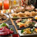牛×鶏×魚の燻製料理&鮮魚や焼き野菜など新鮮な料理もどっさり味わえる『モトカラプラン』