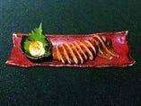 燻製イカのまる焼き