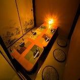 ◆◇個室紹介 和風個室◇◆落ち着いた照明に醸し出された至極の完全個室空間