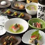 ◇旬の食材を使用した本格和食料理コース6000円からご用意