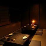 ◇接待・会食利用に最適な落ち着きある完全個室を完備