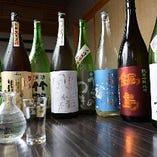 広島県産や全国から厳選した日本酒を種類豊富に取り揃えてます