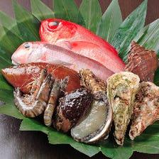 厳選魚介類は大阪黒門市場より仕入れ