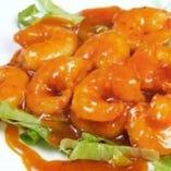 ぷりっぷりの海老のチリソースは定番一番人気☆