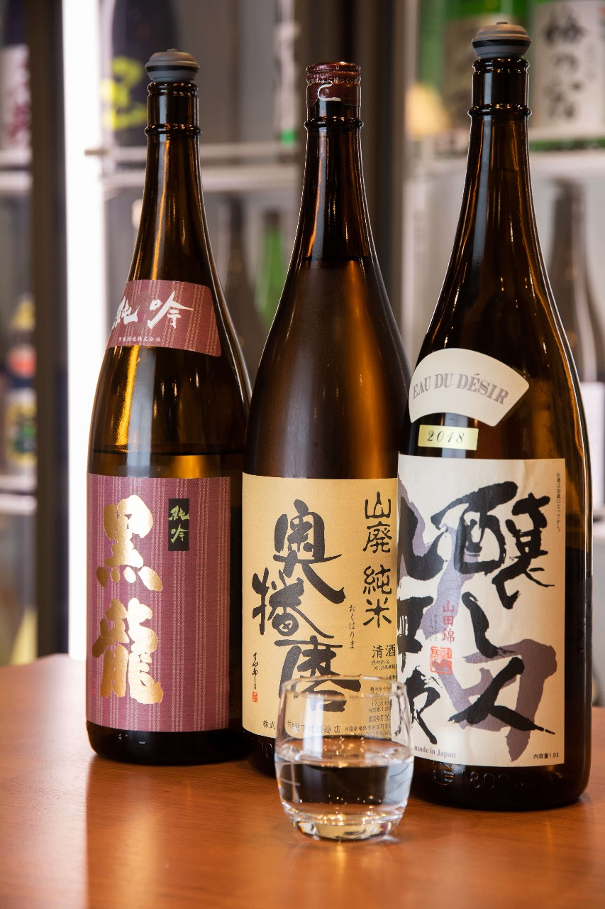 47都道府県の日本酒、常時60種類