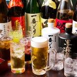 ビールやハイボール、サワー、カクテルなどドリンクも豊富に取り揃えております。