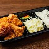 日替わり弁当「カニクリームコロッケとテンカラ弁当」