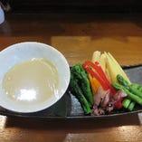 春野菜のバーニャカウダ―
