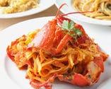 オマール海老とポルチーニ茸のフレッシュトマトソースのリングイーネ