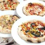 定番・季節のピッツァなど豊富にご用意しております