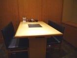4名様用個室。恋人や友人、家族 様々なプライベートシーンに。