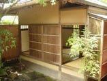 茶室「霞月」 京都御苑内にあったものを移築。一見の価値あり。