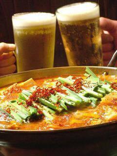 広島県産の味噌を使用!牛もつ鍋