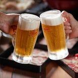 クーポンでビール1杯サービス