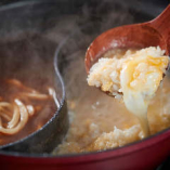 卵でとじた絶品雑炊