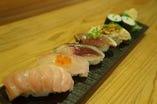 寿司付会席も大人気