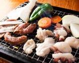 ジュージュー♪海鮮もお肉も野菜も焼いちゃって下さい☆