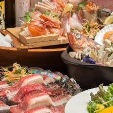 「名物巨大ホールチーズパスタ」と「山形黒毛和牛肉寿司」コース全8品2h飲放付 6000円→5000円