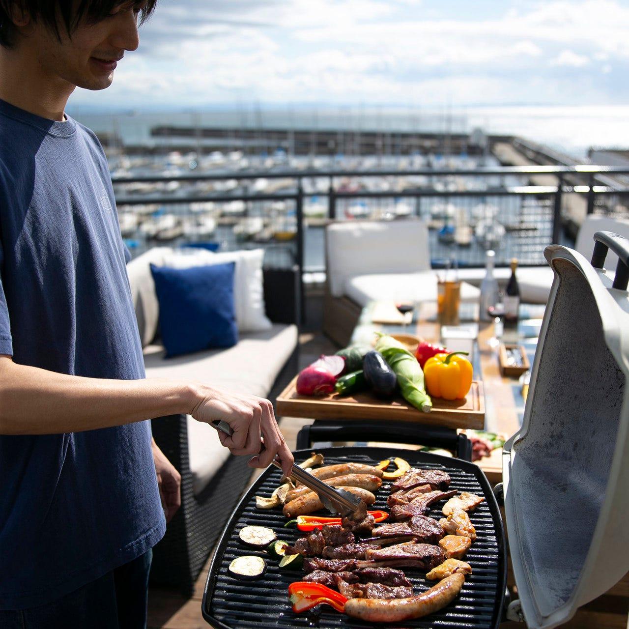 【NORTH SHORE須磨オリジナルプラン】牛、ラム、鶏、ソーセージに野菜たっぷりで大満足!