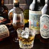 ウイスキーは約100種類ご用意