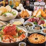◆鉄鍋餃子、もつ鍋を堪能できる博多宴会コースは3,500円から♪