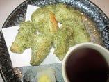 長芋の磯辺天ぷら