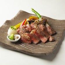 宮崎牛肩ロースのステーキ