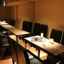 半個室◎寛げるテーブル席でゆっくり