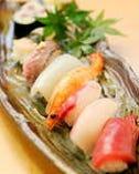 会席にプラス500円でお寿司が付けられます
