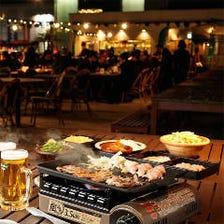 2時間飲み放題付 『夏限定!BBQプラン』<¥5,500円⇒¥4,500円>全7品