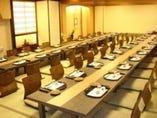 ご宴会に各種大小個室をご用意。一番広いお部屋は50名様まで。