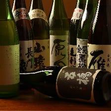 獺祭をはじめとする山口の銘酒の数々