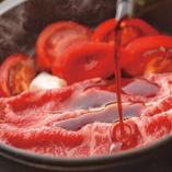 【夏季限定】生にんにくと完熟トマトの夏すき焼き