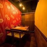 【完全個室】2~4名様用のテーブル個室。女子会やご接待にも◎