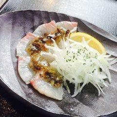 NEW!!旬鮮魚介のカルパッチョ~しらすオリーブのせ~