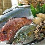 毎日市場で仕入れる魚介類は新鮮そのもの!