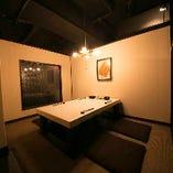 【5名様まで 堀りごたつ個室】小上がりの個室。じっくりと語り合いたい夜にぴったり