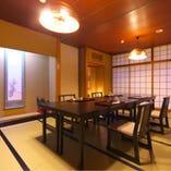 八の間 お座敷ではなく、イス席もご用意しております。ご希望のお客様はお早めにご予約ください。