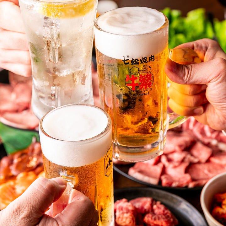 ビールやハイボールなど焼肉に相性抜群なドリンクをラインナップ