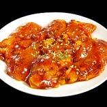 鶏トロ(塩・味噌・辛味味噌・バジル焼・ゆず胡椒風味)
