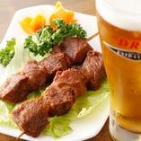 ◆ピリ辛マトン串 ビールのおつまみに最適なピリ辛串!
