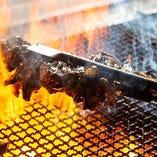 【備長炭】 炭火の強火力で一気に焼き上げ旨みを封じ込めます