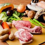 季節野菜や国産牛、新鮮魚介など、こだわり抜いたとびきりの食材をお楽しみください