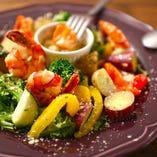エビとゴロゴロ野菜のバーニャカウダー