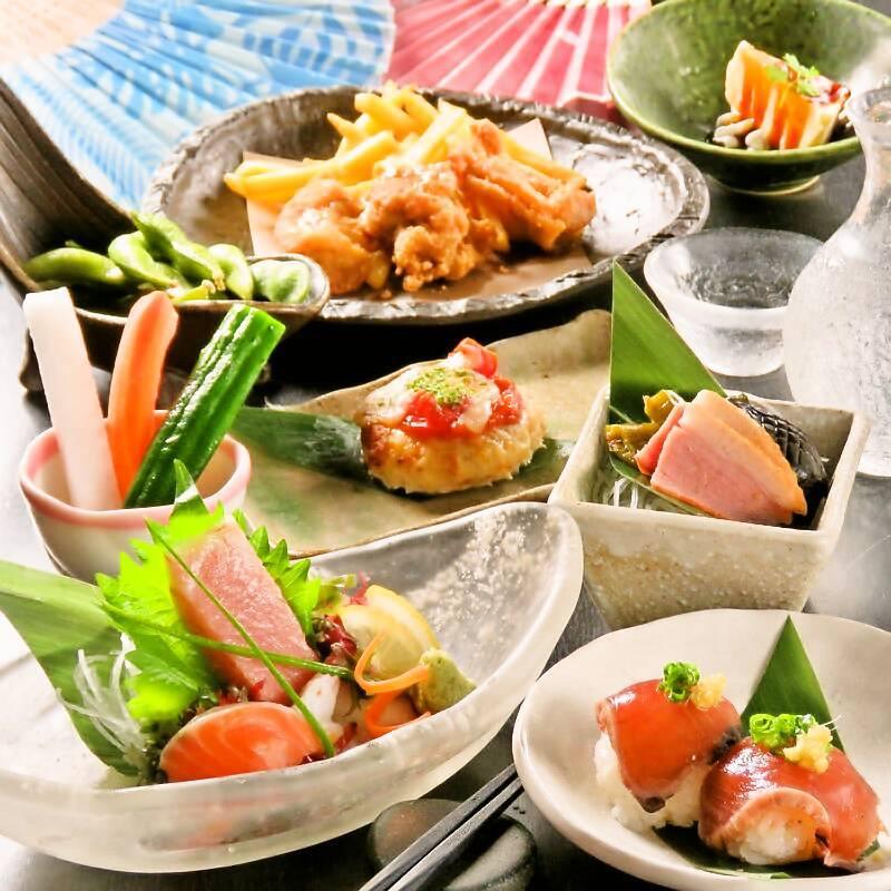 ◆個別盛り会席コース料理♪ゆったりと広い個室でご飲食2時間飲み放題付き 4500円(税込)