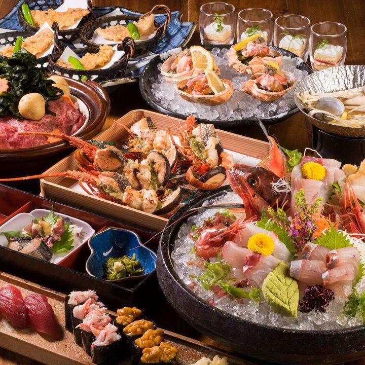 新潟県の旬の食材をたっぷりとご満喫いただける宴会コース。