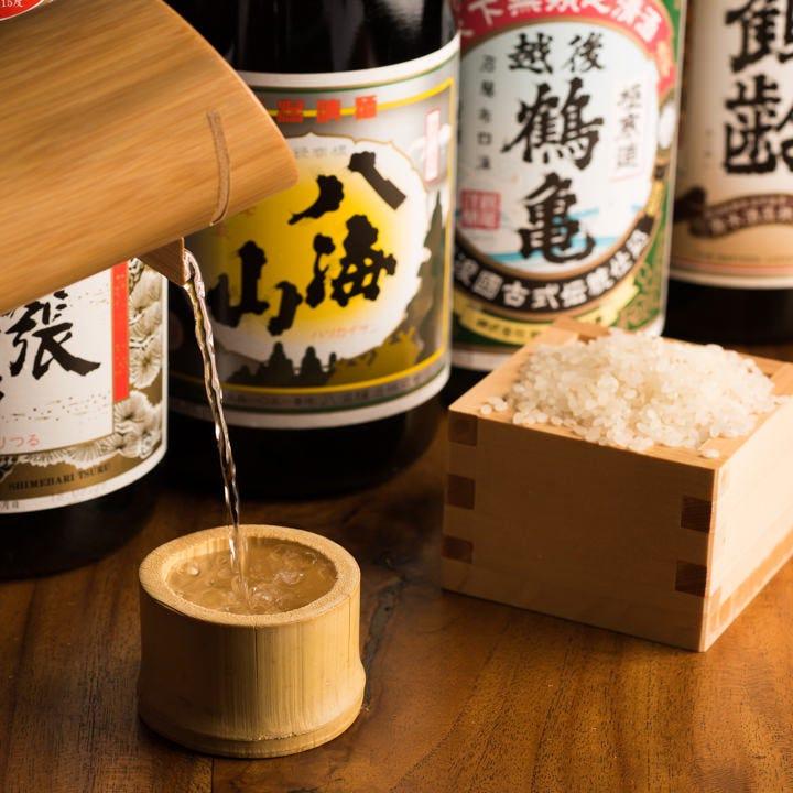 5,000円以上のコースでは厳選冷酒を6種飲み放題で楽しめます!